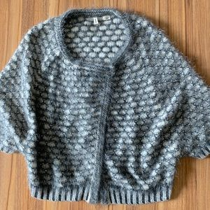 Anthropologie MOTH Wool + angora knit cardigan